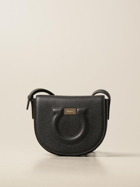 Salvatore Ferragamo women: Salvatore Ferragamo Gancini bag in hammered leather