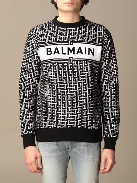 Balmain crewneck sweater in with all-over monogram