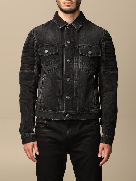 Balmain denim jacket with tears