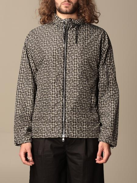 Balmain nylon jacket with all-over monogram print