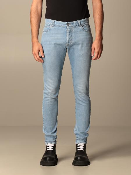 Balmain jeans in used denim with logo