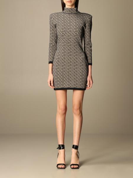 Balmain: Balmain mini dress with all over monogram