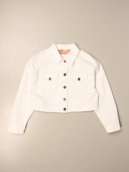 Elisabetta Franchi cropped jacket with back logo