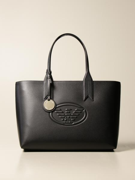 Large Emporio Armani shopping bag in synthetic leather