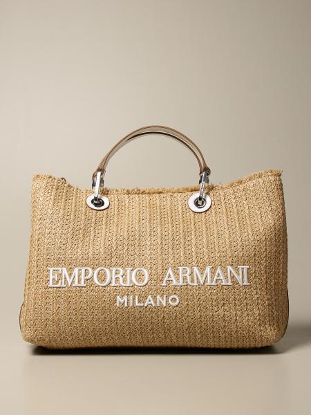 Emporio Armani: Borsa shopping Emporio Armani in paglia