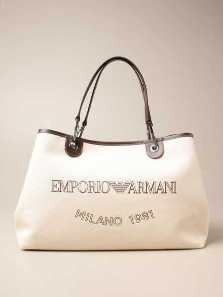 Emporio Armani women: Emporio Armani canvas bag