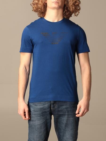 T-shirt Emporio Armani in cotone con logo gommato