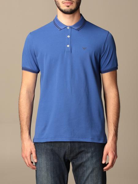 Emporio Armani polo shirt in pique cotton