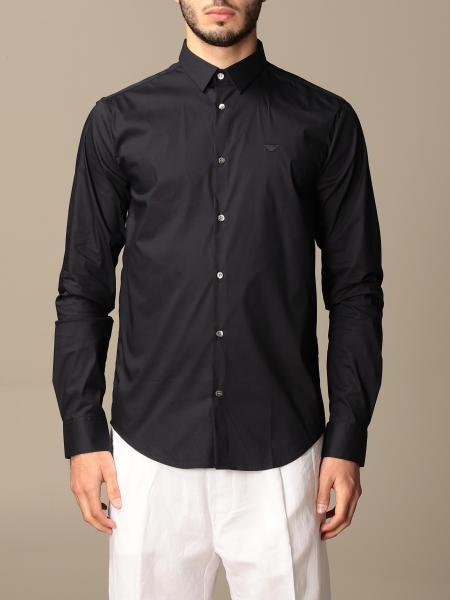 Emporio Armani: Camicia Emporio Armani in popeline stretch