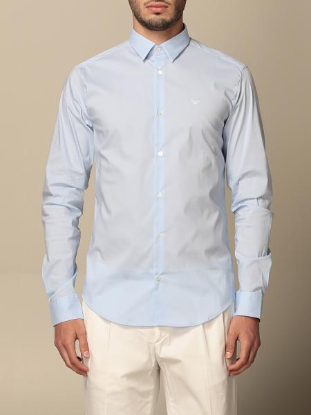 Emporio Armani shirt in stretch poplin