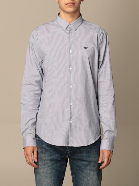Emporio Armani shirt in stretch poplin