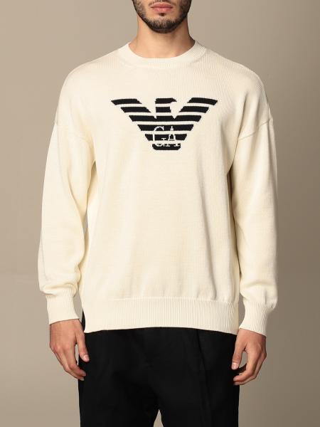 Emporio Armani: Girocollo cotone con logo