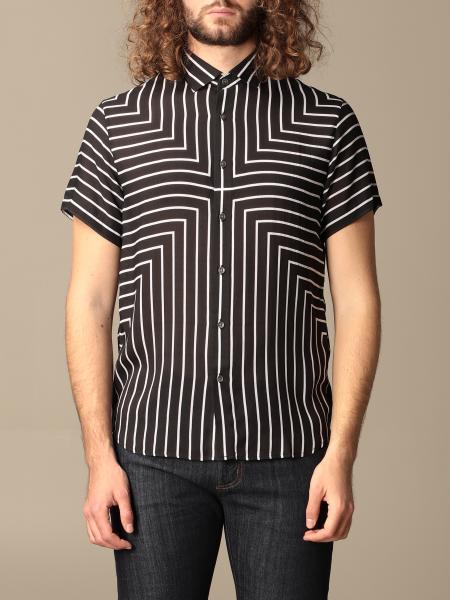 Emporio Armani shirt in striped modal