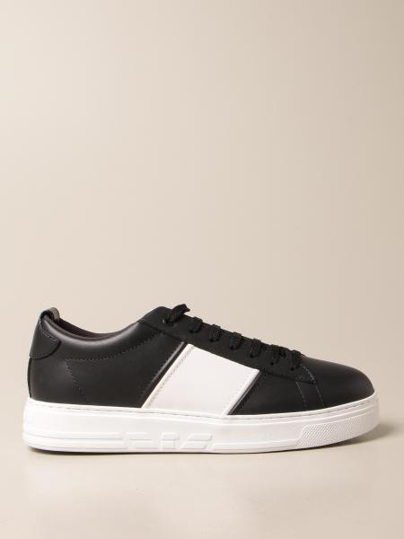 Sneakers Emporio Armani in pelle con banda a contrasto