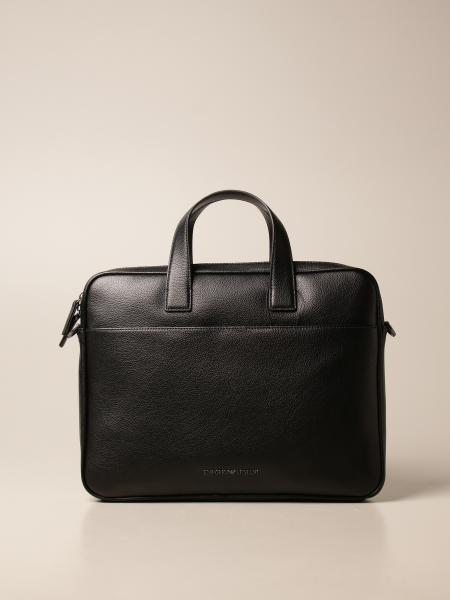 Emporio Armani business bag in grained leather