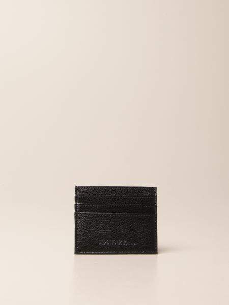 Emporio Armani credit card holder in leather with logo