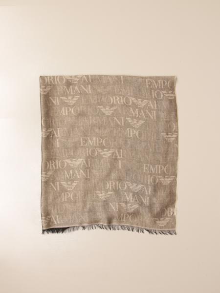 Sciarpa Emporio Armani in misto modal con logo all over