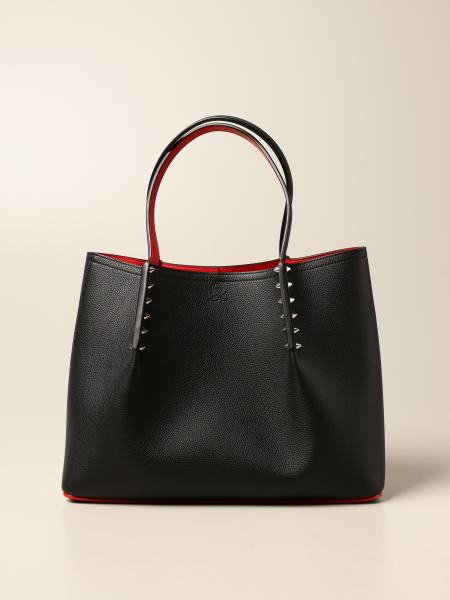 Christian Louboutin women: Christian Louboutin Cabarock bag in leather with spikes