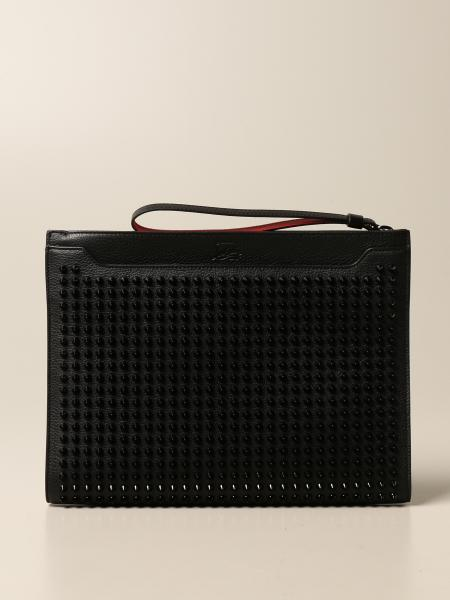 Christian Louboutin women: Skypouch Christian Louboutin clutch bag with studs