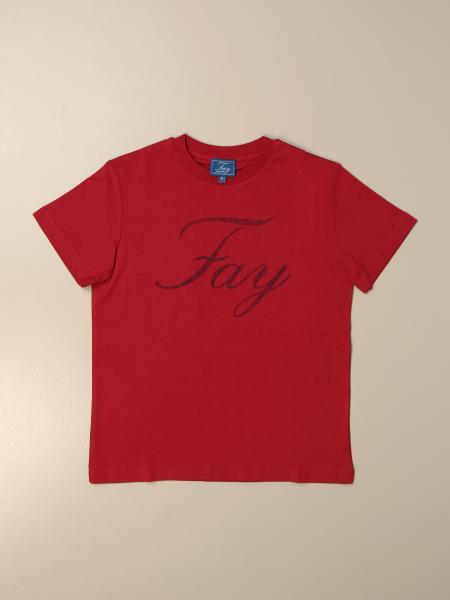 T-shirt Fay in cotone con logo