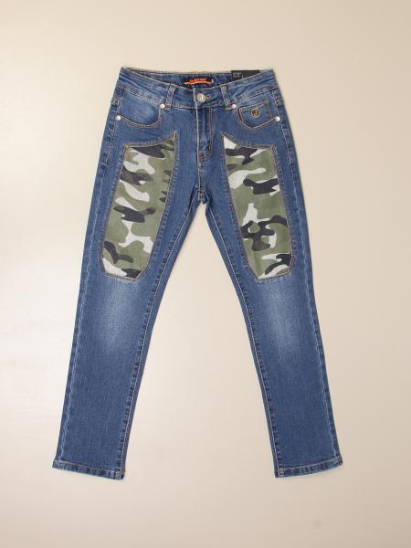 Jeans Jeckerson a 5 tasche con toppe camouflage