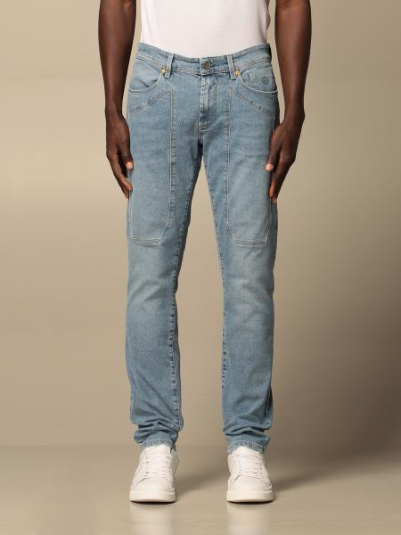 Jeckerson men: Jeckerson stretch jeans with patches