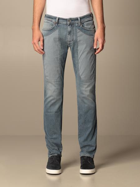 Jeckerson men: Jeckerson 5-pocket jeans with Alcantara patches