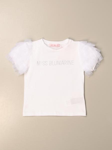 Miss Blumarine T-shirt with rhinestone logo