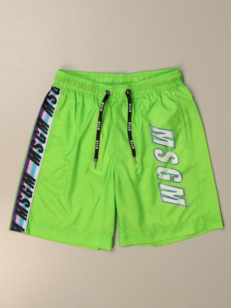 Msgm Kids boxer swimsuit with logo
