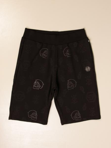 Philipp Plein Bermuda shorts with all over skulls