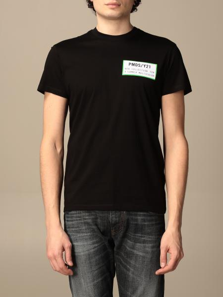 Pmds: T-shirt PMDS in cotone con stampa posteriore