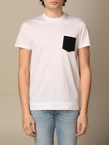 Pmds: T-shirt PMDS in cotone con taschino a toppa