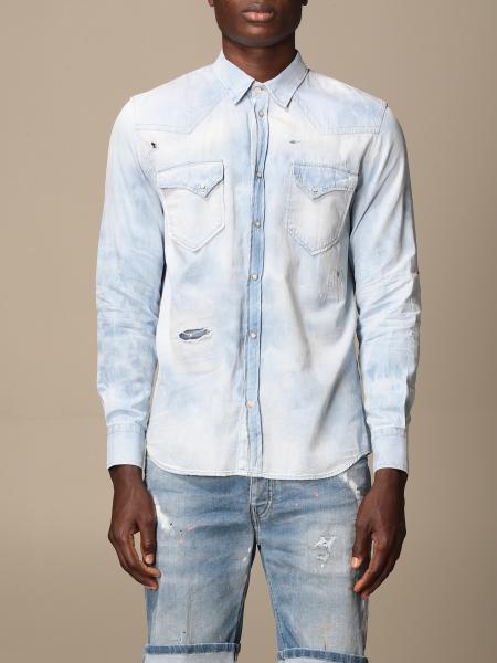 Pmds: Camicia di jeans PMDS con rotture