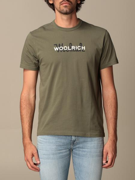 T-shirt Woolrich in cotone con logo