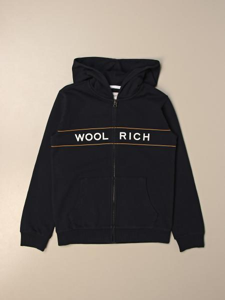 Felpa con cappuccio Woolrich con logo