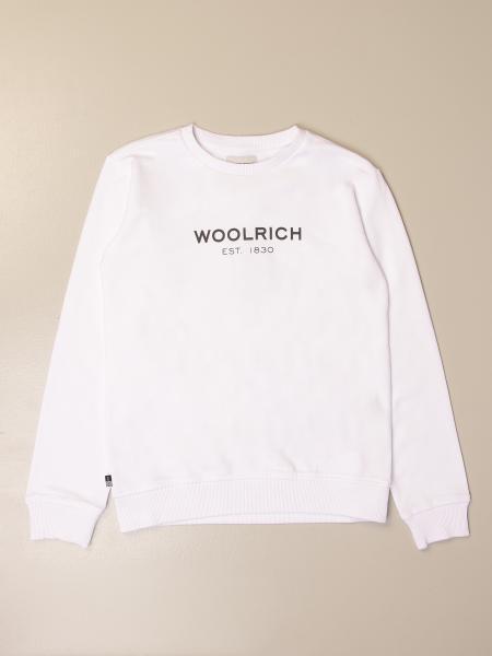 Felpa a girocollo Woolrich in cotone con logo