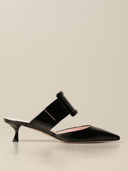 Roger Vivier Mule Covered buckle in patent leather