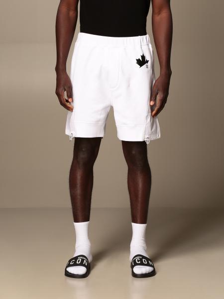 Dsquared2 jogging bermuda shorts in cotton and nylon