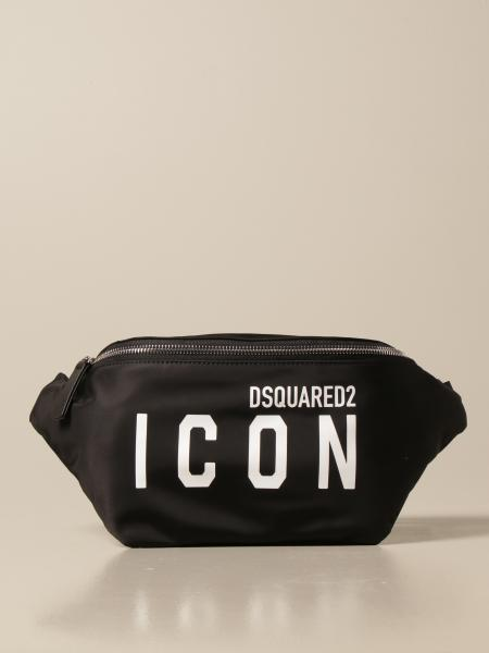 Icon Dsquared2 belt bag in technical canvas with logo