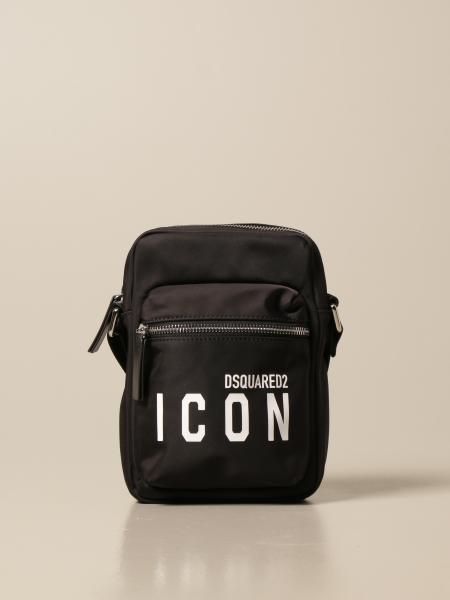 Borsello a tracolla Dsquared2 in nylon con logo Icon
