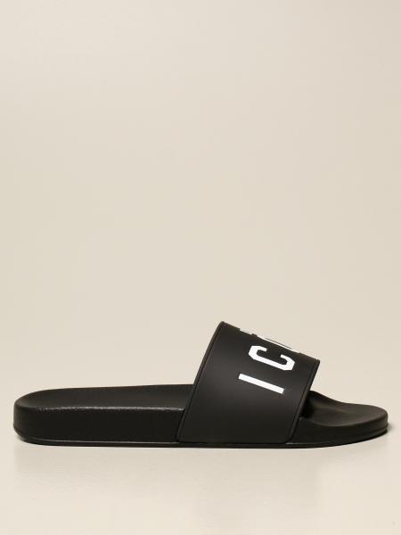 Sandalo Dsquared2 in gomma con stampa Icon
