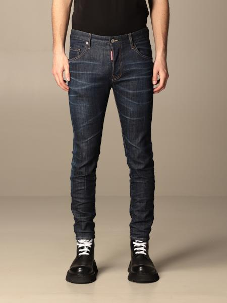 Jeans Skater Dsquared2 a 5 tasche in denim used