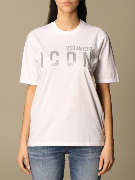 Dsquared2 cotton T-shirt with Icon reflective logo