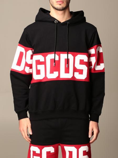 Gcds hooded sweatshirt with band and logo