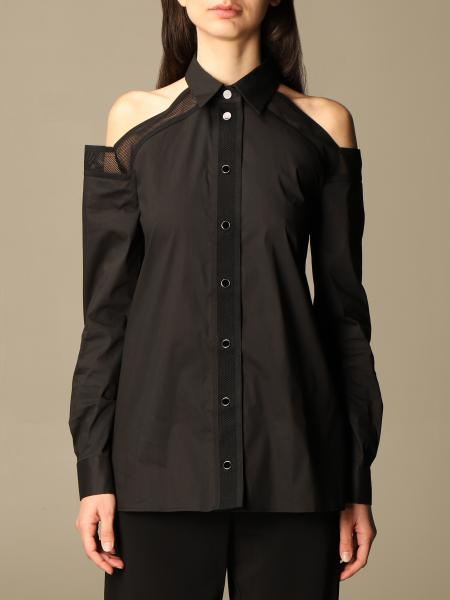 Just Cavalli shirt with micro mesh details