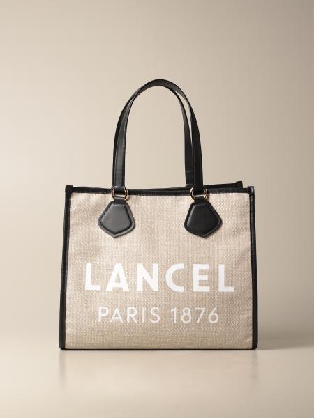 Lancel: Borsa a spalla Lancel in canvas con logo