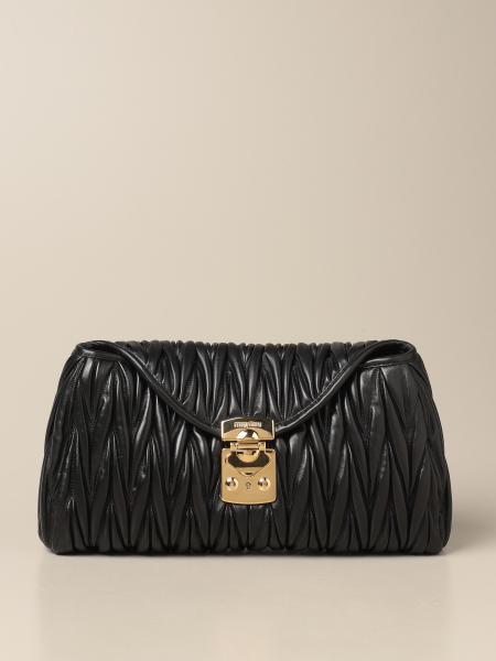 Miu Miu women: Miu Miu shoulder bag in quilted leather