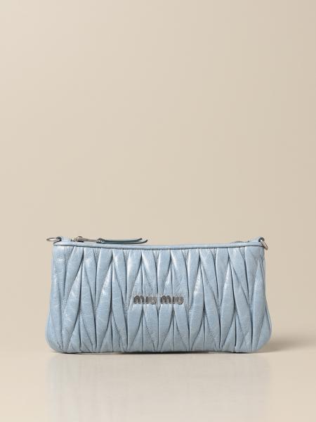 Miu Miu women: Miu Miu shoulder bag in matelassé shiny leather