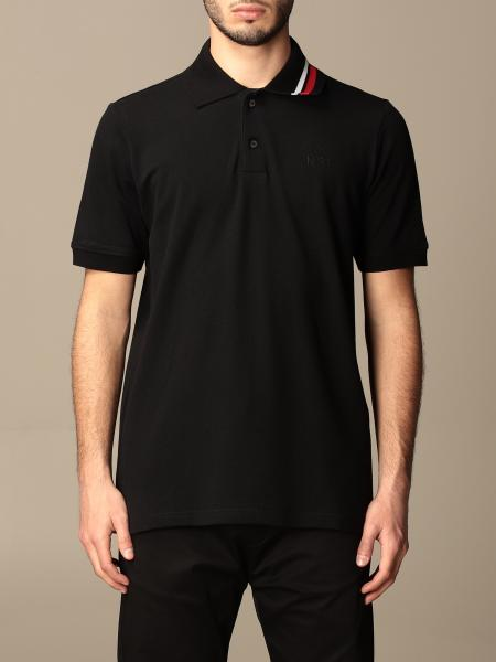 N° 21: N ° 21 basic cotton polo shirt with striped details