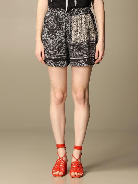 Pinko Chimera shorts in viscose with bandana print